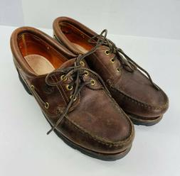 TIMBERLAND 32026 MEN'S BROWN LEATHER Boat Shoes Size 10