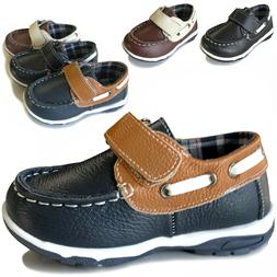 Baby Boys Toddler Leather Boat Shoes Casual Sneaker Loafer T