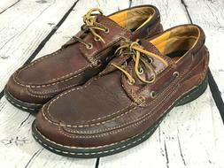 brown leather boat deck casual shoes men
