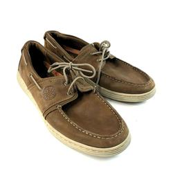 Dunham Brown Leather Casual Boat Shoes Mens Size 9.5 New Bal