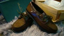 Clarks Falcon 30104 Men's Brown Boat Shoes Nubuck Leather