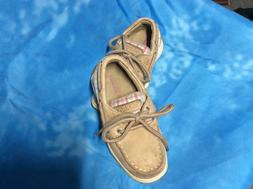 Girls Sperry Boat Shoes.  Size 8.