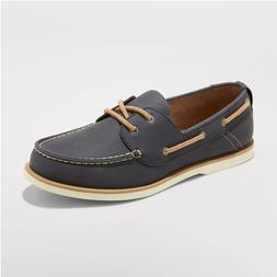 Goodfellow & Co. Men's Rice Boat Shoes, Navy Blue, US Size 9