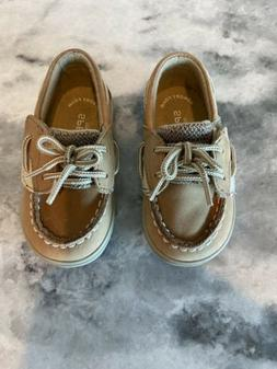 Sperry Kids' Bluefish Crib Shoes  BABY  Size 4 LINEN OAT