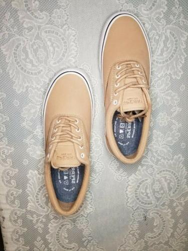 washable leather shoes size 11 tan striper