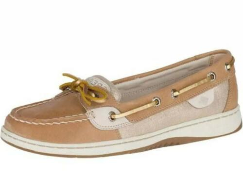 womens angelfish leather closed toe boat shoes