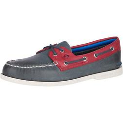 Sperry Men's A/O 2-Eye Plush Boat Shoes Navy/Red 10.5