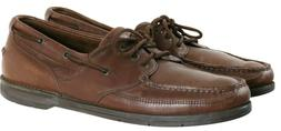 Rockport Men's Casual Boat Shoes Size 13 Leather Brown