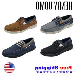 Henry Uomo Men's Casual Sneaker Boat Shoes Comfortable Lace