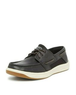 Sperry Men's Convoy 3-Eye Boat Shoes Size 14 Black Leather,
