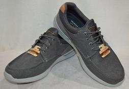 Skechers Men's Relaxed Fit Elent Mosen Charcoal Boat Shoes-S