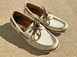 Men's Sperry Gold Cup A/O Top Sider Boat Shoes, Ivory/Ivory,