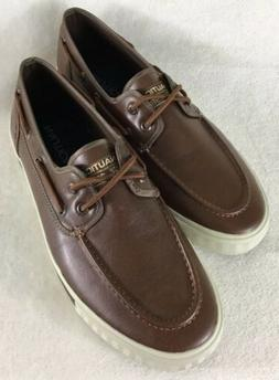 Nautica Men's Spinnaker Lace-Up Boat Shoes Brown Casual Fash