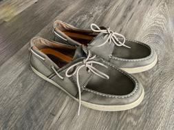 Mens New Balance Gray Dunham Boat Shoes Loafers Size 10 4E W