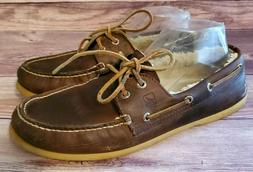 Sperry Mens Shoes Size 10.5 Winter A/O 2 Eye Boat Lined Brow