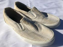 Old Navy Mens Slip On Canvas Loafer Sneaker Boat Shoes Tan/B