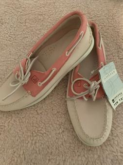 Sperry Nautical Boat Shoes Women Pink Size 8.5M NWT