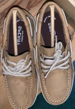 New Boys Sperry Gamefish Boat Shoes Tan Size Youth 1 Medium.
