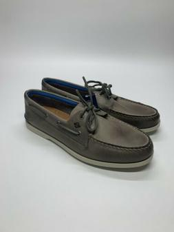 New Men's Sperry Top-Sider A/O 2-Eye Plush Gray Boat Shoes w