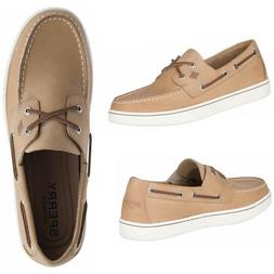 NEW SPERRY Top-Sider Cup 2-Eye Men's Leather Boat Shoes Beig