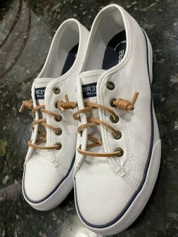 NEW Women's SPERRY white Boat Shoes Size 8.5