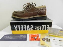 Lehigh Safety Shoes Legend Boat Shoe 9 1/2 M NEW in Box ANSI