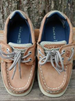 Sperry Baby/Toddler Boys Lanyard A/C Boat Shoes, size 9M Tan