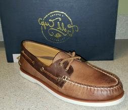 Sperry Gold Cup Men's A/O 2-Eye Cross Lace Tan/Brown Boat Sh