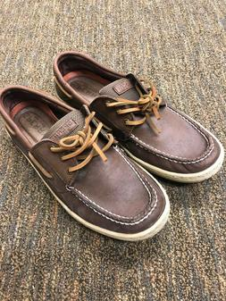 SPERRY LEATHER  BILLFISH 3 EYE CLASSIC BROWN SIZE 10.5