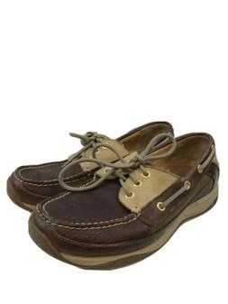 Sperry Men's Brown Leather Gold Cup 3 Eye Billfish Boat Shoe