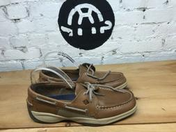 Sperry Men's Intrepid Top-Sider Tan Leather Casual Boat Shoe
