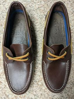 Sperry Top Sider Brown Leather Boat Deck Shoes Mens Sz 10 M