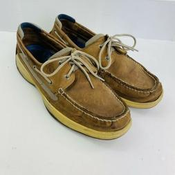 Sperry Top Sider Brown Leather Boat Shoes Mens Size 13