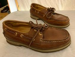 Sperry Top Sider Gold Cup Brown Leather Boat Shoes Mens 8W