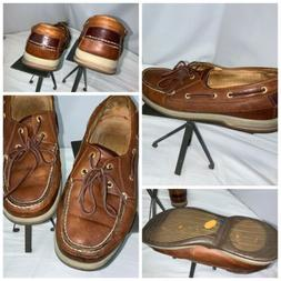 Sperry Top Sider Gold Cup Shoes Sz 11 Men Brown Leather Vibr