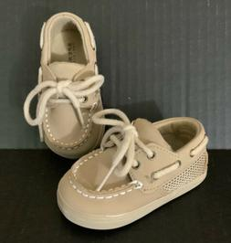 Sperry Top-Sider Intrepid Infant Baby Boat Shoes Beige Khaki