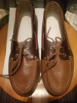 Sperry Top Sider  Leather Flats Boat Shoes Size 10.5M Used O