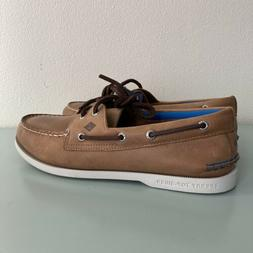 SPERRY TOP-SIDER MEN'S A/O 2-EYE PLUSH BOAT SHOE STS18498 TA