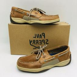 Sperry Top-Sider Men's Intrepid Casual Boat Shoes, Tan Leath