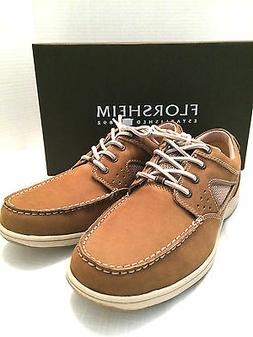 FLORSHEIM Taupe Brown Cove Lace Leather Deck Boat Oxford Sho