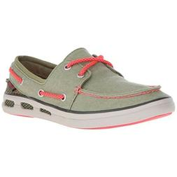 Columbia Vulc N Vent Green Boat Canvas Vented Shoes WomensSi