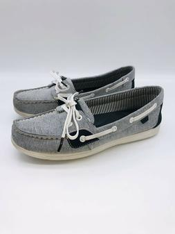 Sperry Women's Boat Shoes Moccasins Grey / Black US 7.5M   #