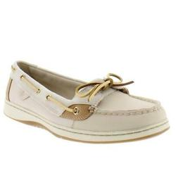Sperry Womens Angelfish Beige Suede Boat Shoes Flats 9.5 Med