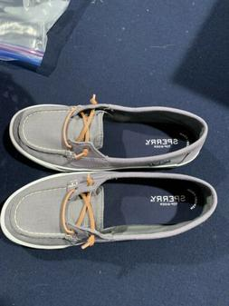 Women's SPERRY Lounge Away Boat Shoes. Gray. Size 8. EUC.